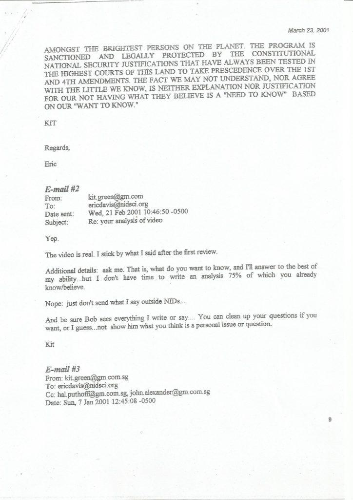 Bigelow Memorandum - Seite 9