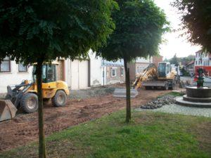 Bauarbeiten am Obertor, Wasungen 2012