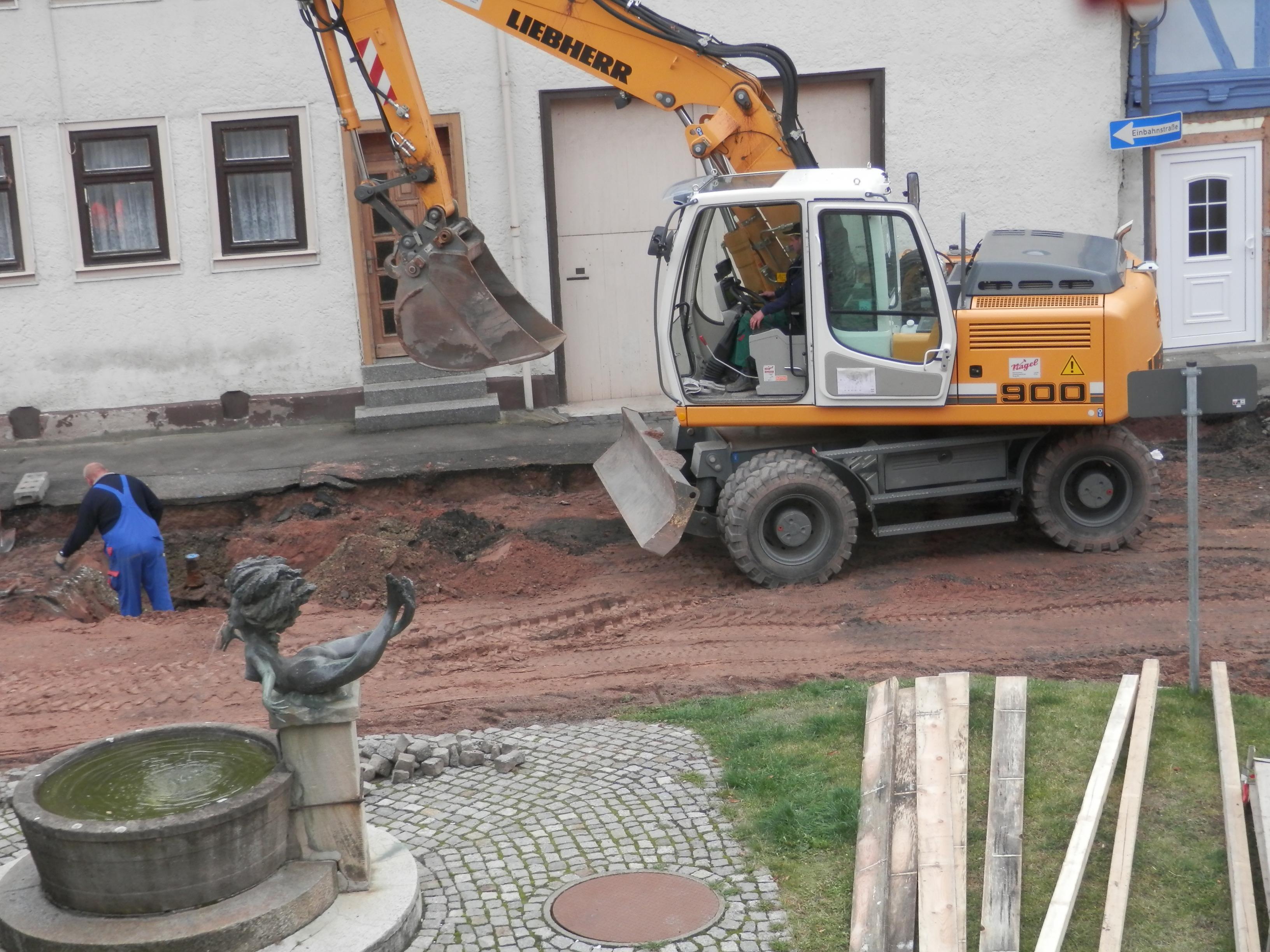 Bauarbeiten am Obertor in Wasungen, Frühjahr 2012