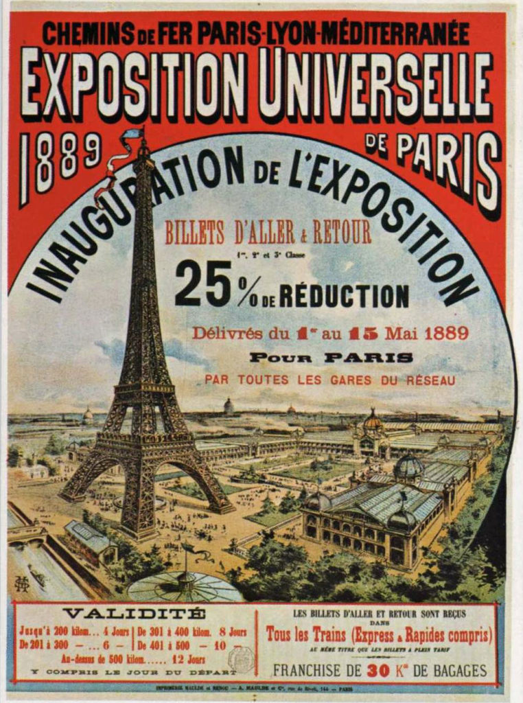 Plakat: Weltausstellung Paris 1889