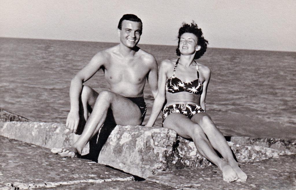 Rimini, Italien - August 1956