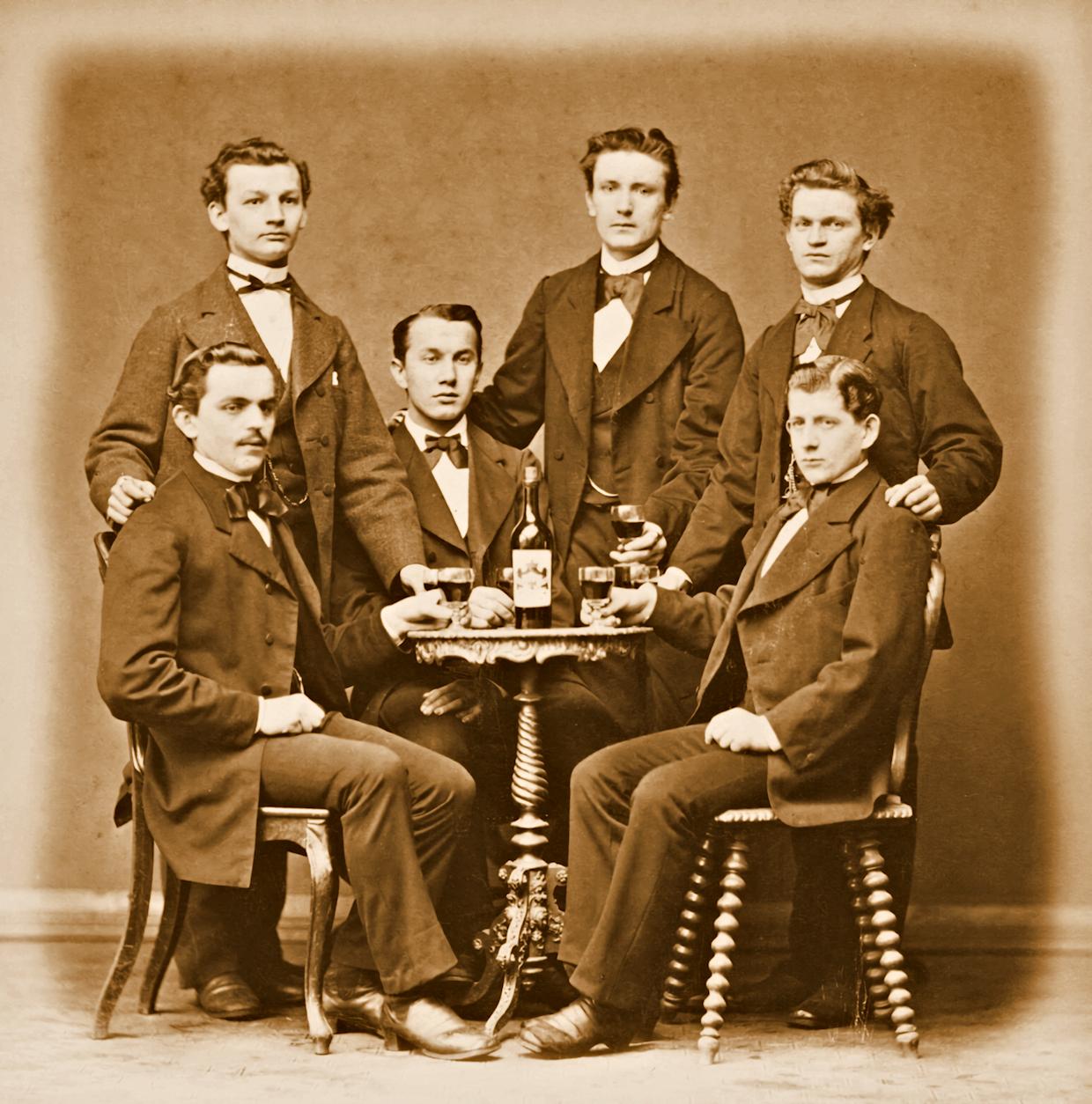 Herrengruppe im Jahr 1900