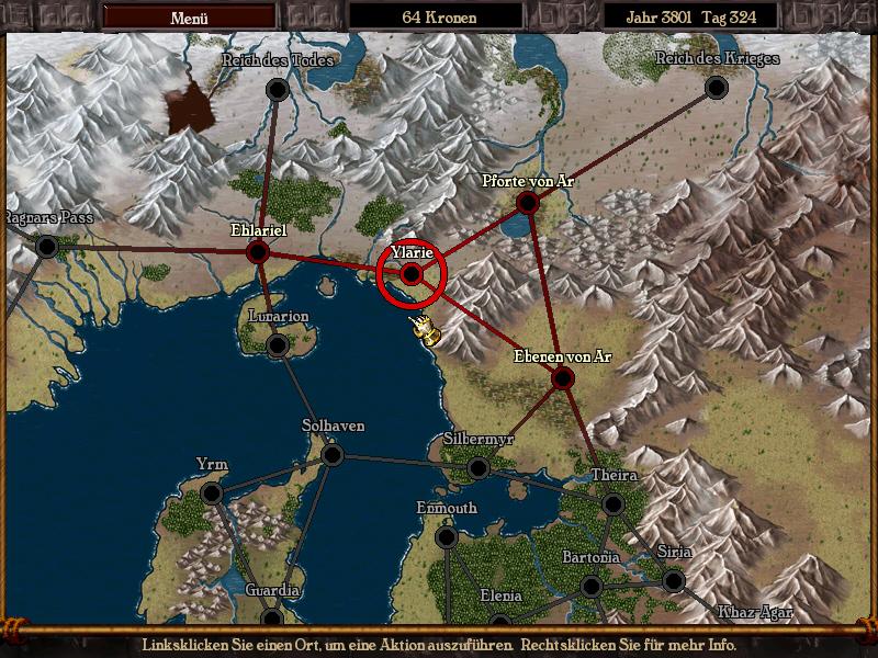 Karte nach Ylarie