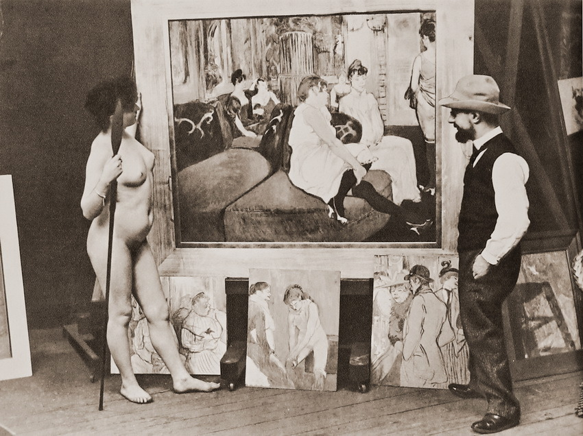 Henri de Toulouse-Lautrec (ca. 1900) mit Muse und Werk