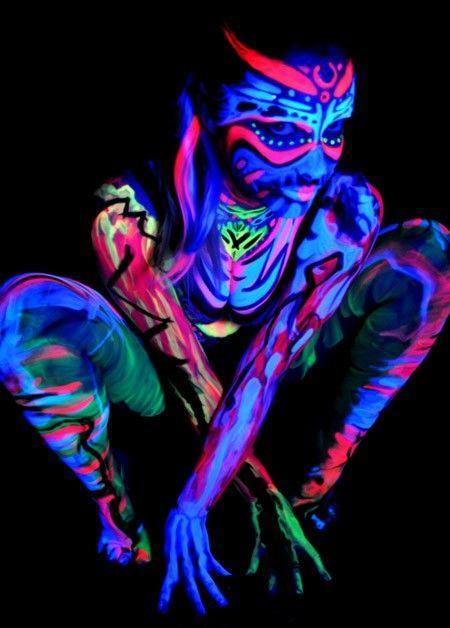 Schwarzlichtfotografie (Beispielbild, Pinterest)
