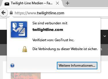 Zertifikat für sichere Datenübertragung